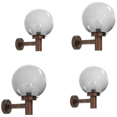 Set of Four Outdoor Wall Lights by Falkenbergs Belysning, Sweden, 1970