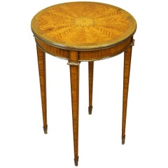 Antique 19th Century Satinwood Occasional Table