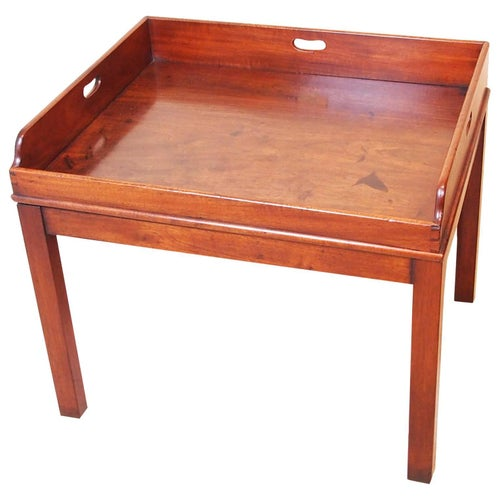 Antique Georgian Mahogany Butlers Tray on Stand