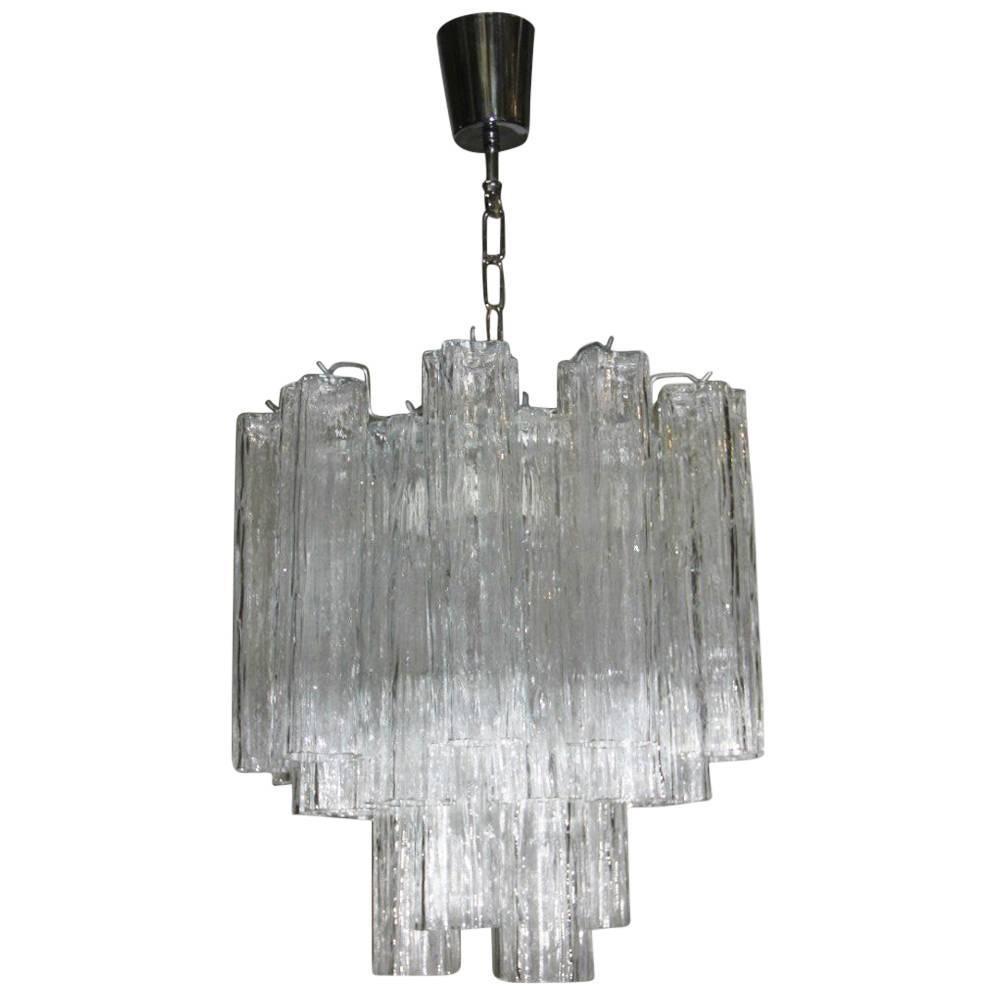Italian Design Chandelier Venini Tronchi Art Glass Murano