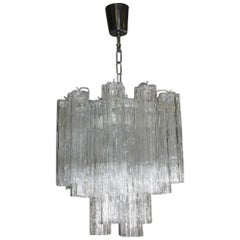 Italian Design Chandelier Venini Tronchi Art Glass Murano