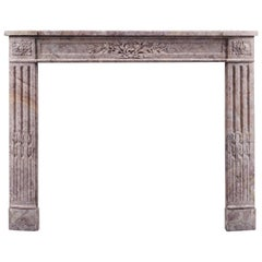 Antique 19th Century Louis XVI Style Antique Fireplace