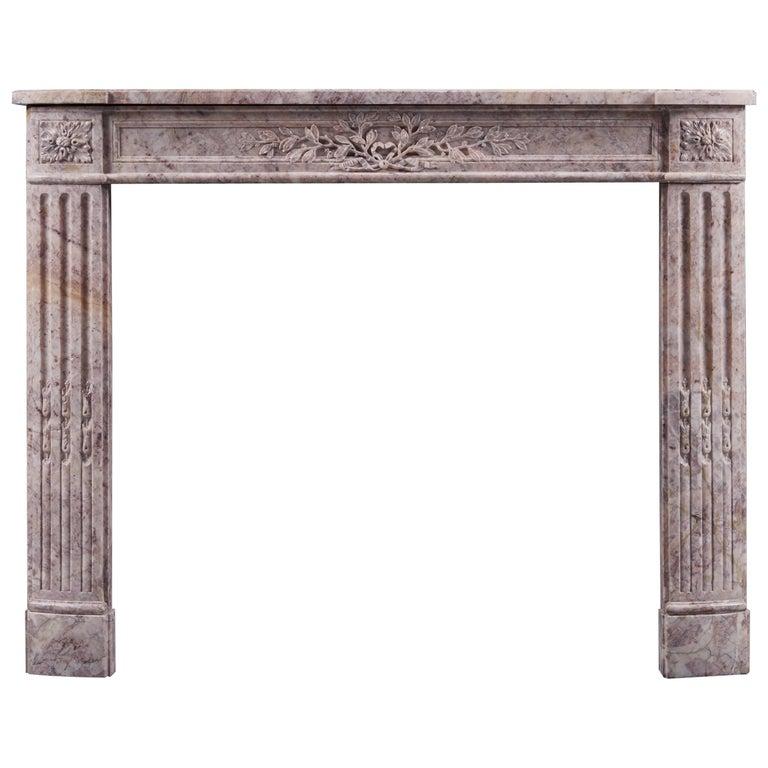 Antique 19th Century Louis XVI Style Antique Fireplace