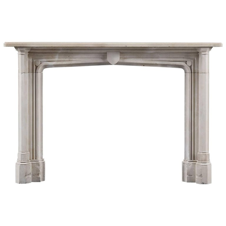 Early 19th Century, Gothic Revival Antique Fireplace in Portland Stone For  Sale - Early 19th Century, Gothic Revival Antique Fireplace In Portland