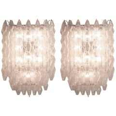 Pair of wall lights by Carlo Scarpa for Venini, 1950s