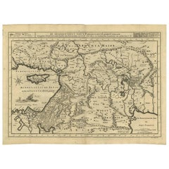Antique Bible Map of the Middle East by A. Schut, 1743