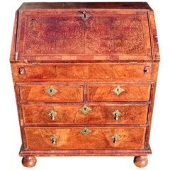 Early 18th Century Unusually Small George I Period Walnut Antique Bureau