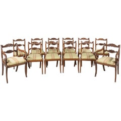 Set of 12 Regency Period Mahogany Dining Chairs