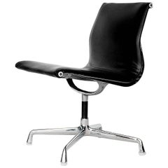 Leather Alu EA105 Chair by Charles & Ray Eames for Herman Miller / Vitra, 1970s