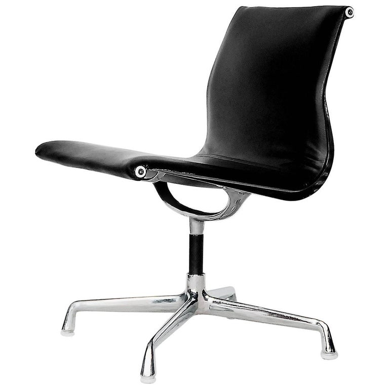 leather alu ea105 chair by charles and ray eames for. Black Bedroom Furniture Sets. Home Design Ideas