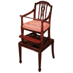 Sheraton period mahogany child's chair