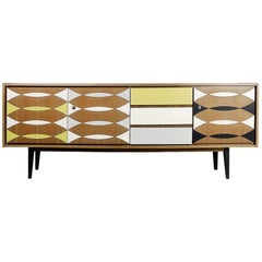Swedish Patterned Sideboard, 1960s