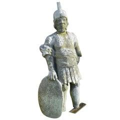 Alnwick Castle 'Battlement Figure' Carved by James Johnson of Stamfordham