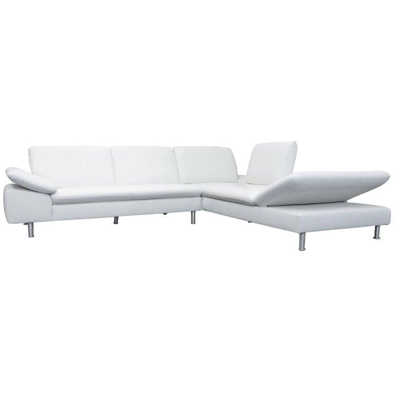 willi schillig loop designer corner sofa leather white. Black Bedroom Furniture Sets. Home Design Ideas