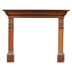 19th Century Victorian Style Carved Oak Fire Surround