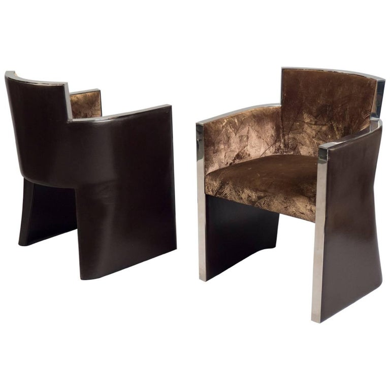 Pair of Armchairs, Italy, 1990s