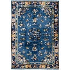 1920s Chinese Blue Peking Carpet