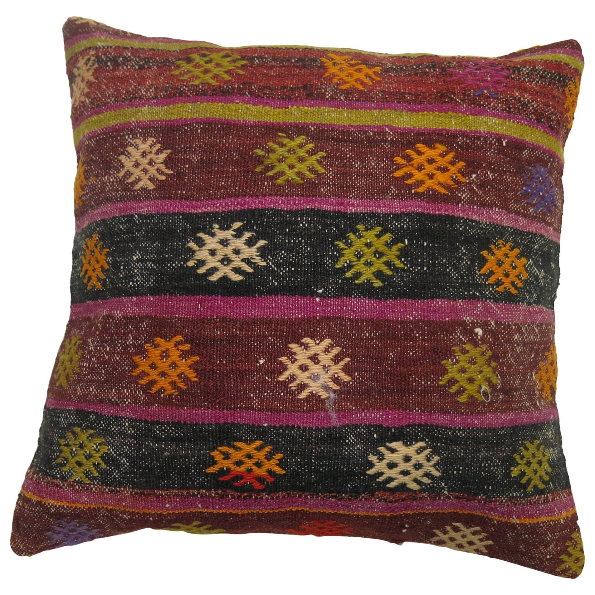 Striped Vintage Kilim Pillow