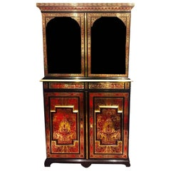 Fine 19th Century Ebonized 'Boulle' Petite Armoire by Joseph Cremer, French