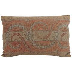 Antique Kashmir Paisley Lumbar Decorative Pillow with Trim