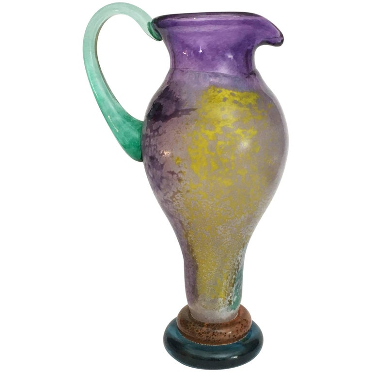 20th Century Swedish Blown Glass Carafe by Kjell Engman for Kosta Boda