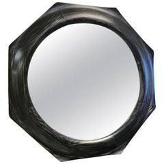 Custom Octagonal Cerused Oak Mirror