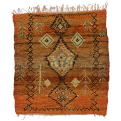 Berber Moroccan Rug with Tribal Design