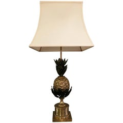 A Maison Charles  Brass and Bronze Pineapple Table Lamp