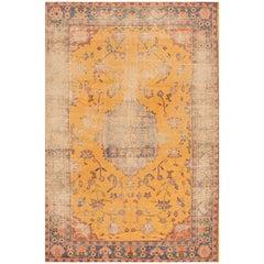 1920s Yellow Turkish Oushak Carpet