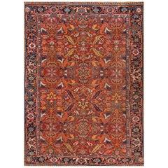 1920s Red/Rust Persian Heriz Carpet