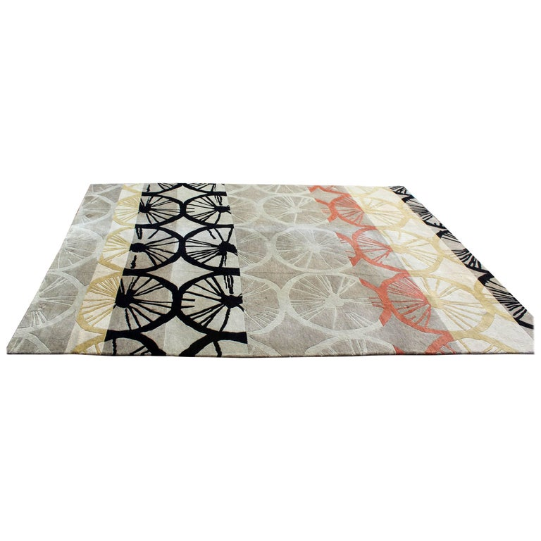 Contemporary Large Rectangular Area Rug Carpet Abstract Modern Floral Pattern