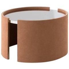 Dimorestudio Tavolo Basso 080 Suede Side Steel Table