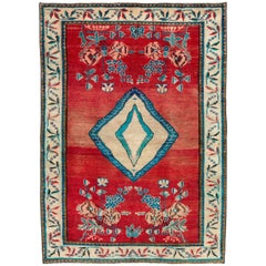 Vintage Persian Mahal Rug