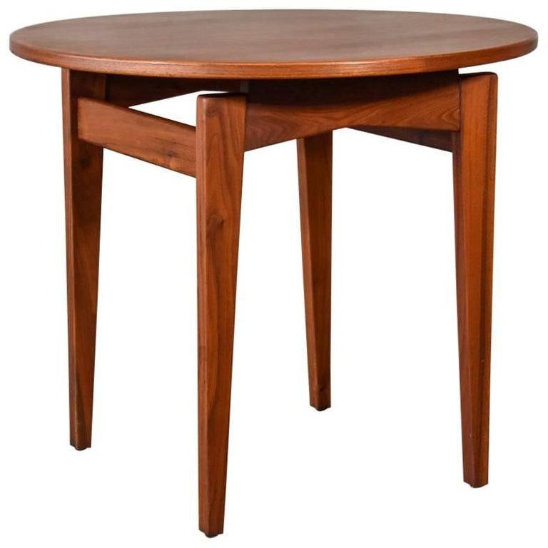 Jens Risom Walnut Side Table
