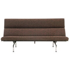 Charles and Ray Eames Sofa Compact for Herman Miller in Eames Dot Pattern Fabric
