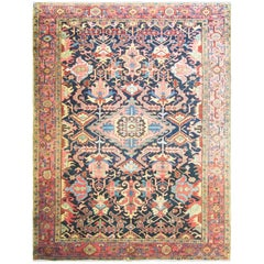Spectacular Antique Persian Heriz Carpet