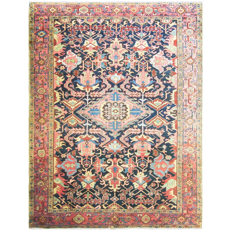 Spectacular Antique Persian Heriz Carpet