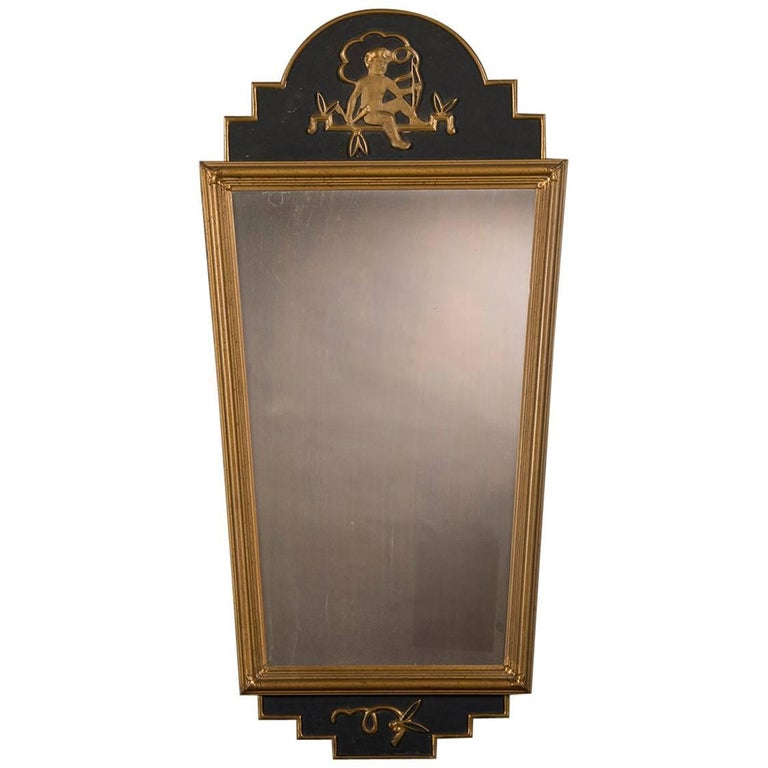 Antique Neoclassical Swedish Painted Mirror, circa 1890