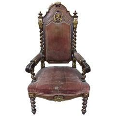 Italian Baroque Style Parcel-Gilt Armchair, 19th Century