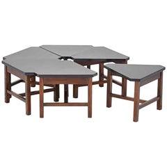 Mid-Century Modern Modular Coffee Table, Six Pieces, 1960s
