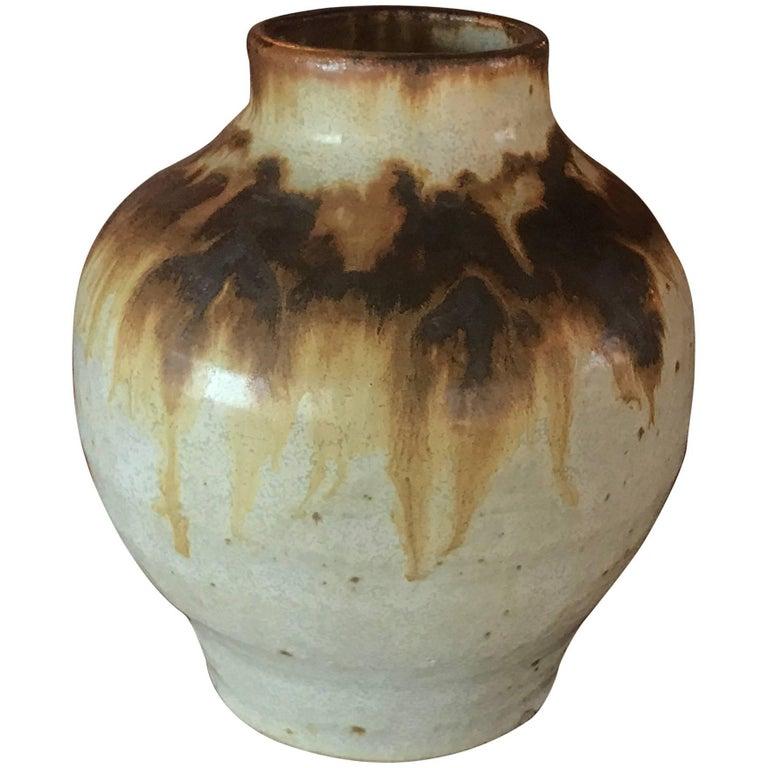 Midcentury Vintage Studio Ceramic Vase Pot Pottery Art
