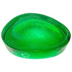 Italian Murano Freeform Glass Dish or Bowl by Vincenzo Nason