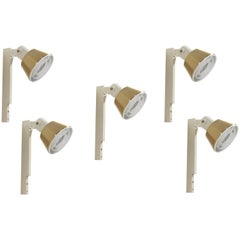 Set of Five Wall Lights, Norway, 1970s