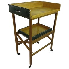 Drink Trolley with Removable Trays and Folding Stand