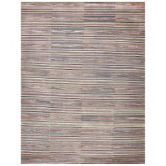 Large Room Size Antique American Rag Rug