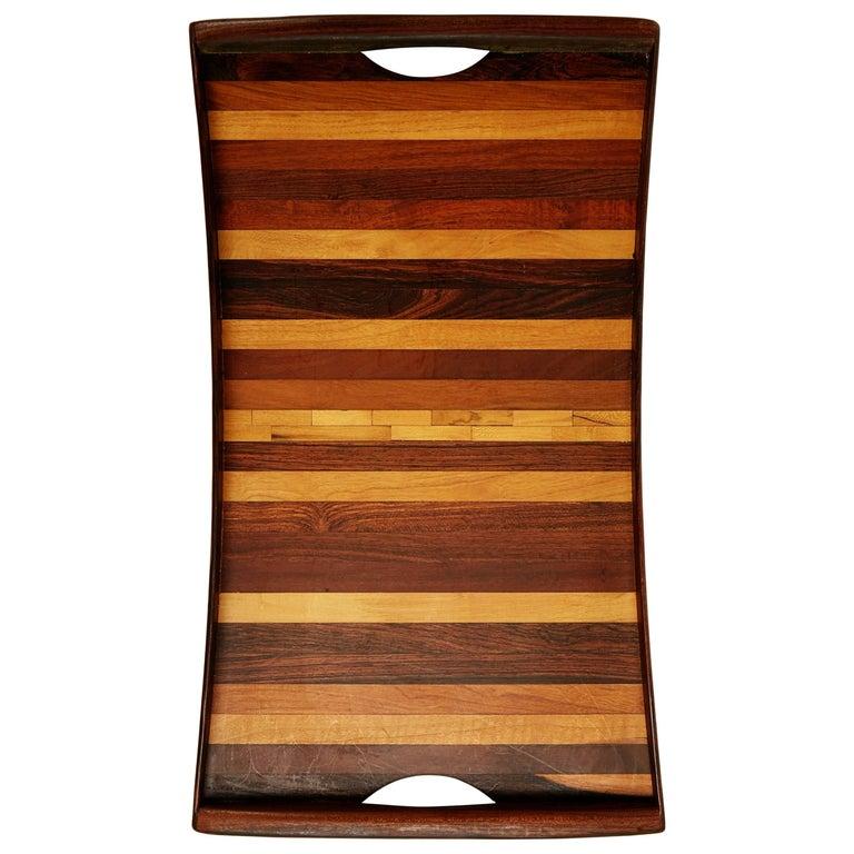 Don Shoemaker Exotic Wood Inlaid Tray for Señal, circa 1970