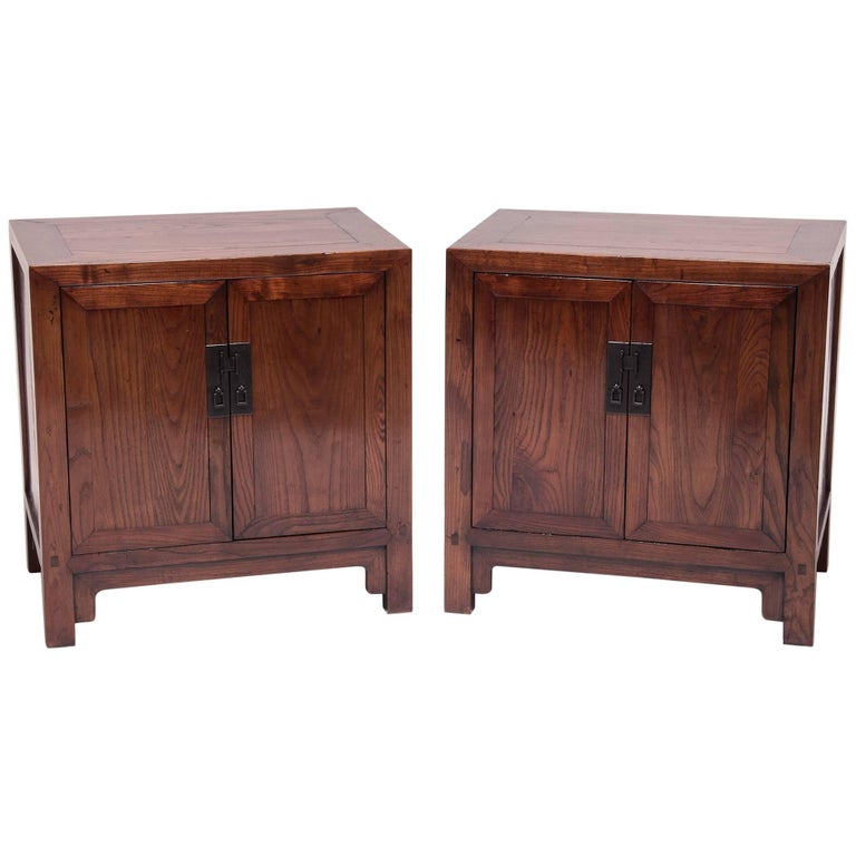 Pair of Low Chinese Chests
