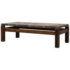 Mosaic Stone and Wenge Coffee Table