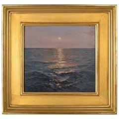 "Michael John Mariano Framed Oil on Board, ""Evening Interlude"""