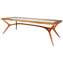 Sculptural Dining Table by Giuseppe Scapinelli, Rare Large Version, Brazil 1950s